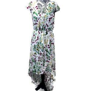 WAYF Hi-Low Flutter Sleeve Dress, NWT